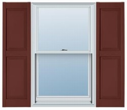Mid America Williamsburg Raised Panel Master Vinyl Shutter