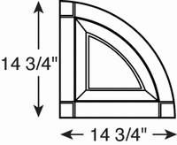 14 3 4 Inch Raised Panel Quarter Round Arch Top